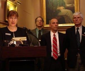 Rep. Linda Waite-Simpson speaks and antis put on full court press for gun control.